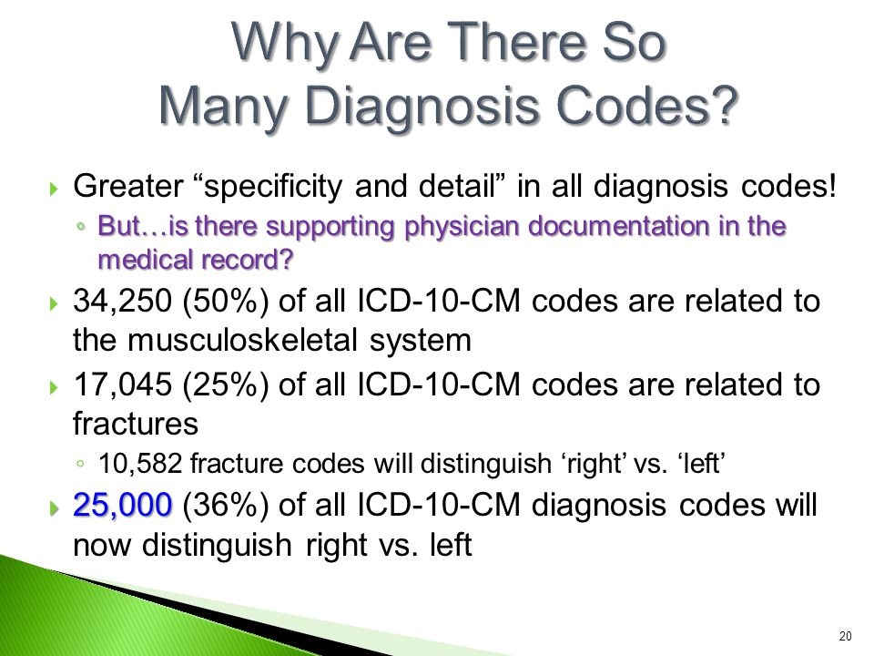 Why Are There So Many Diagnosis Codes