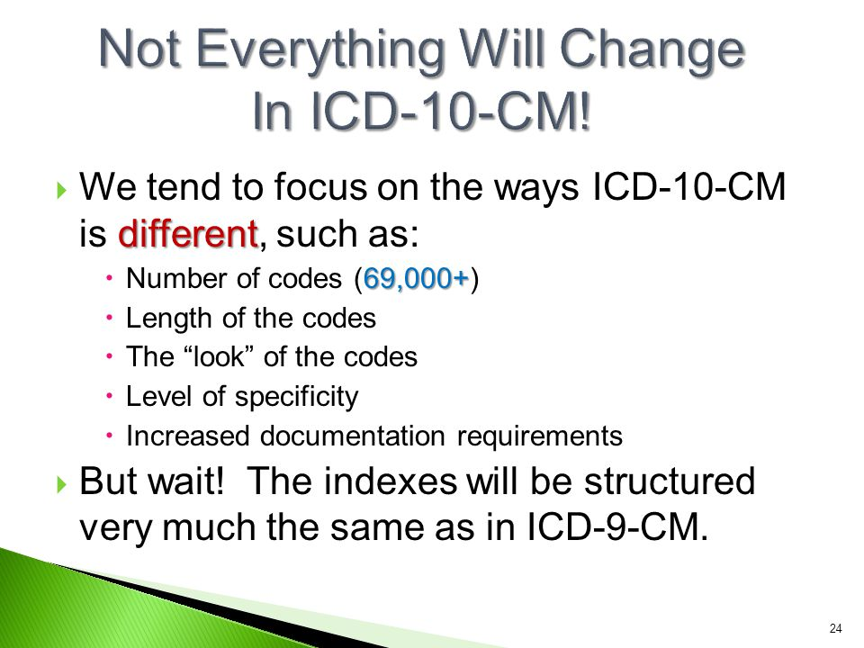 Not Everything Will Change In ICD-10-CM!