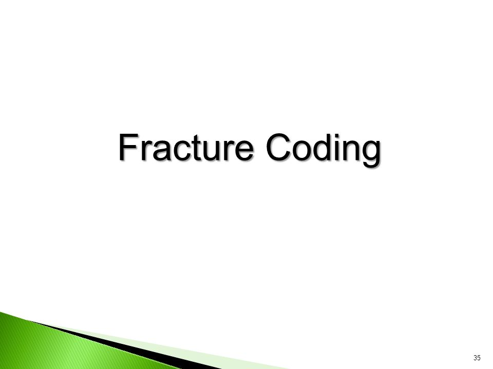 Fracture Coding