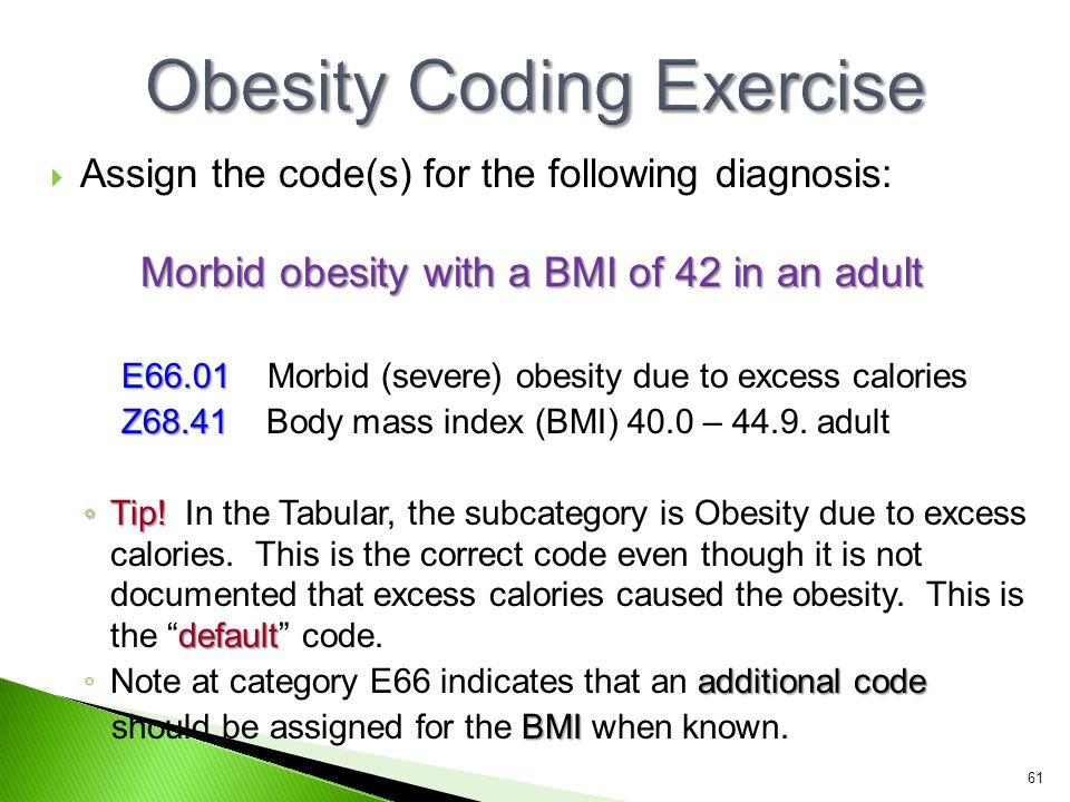 Obesity Coding Exercise