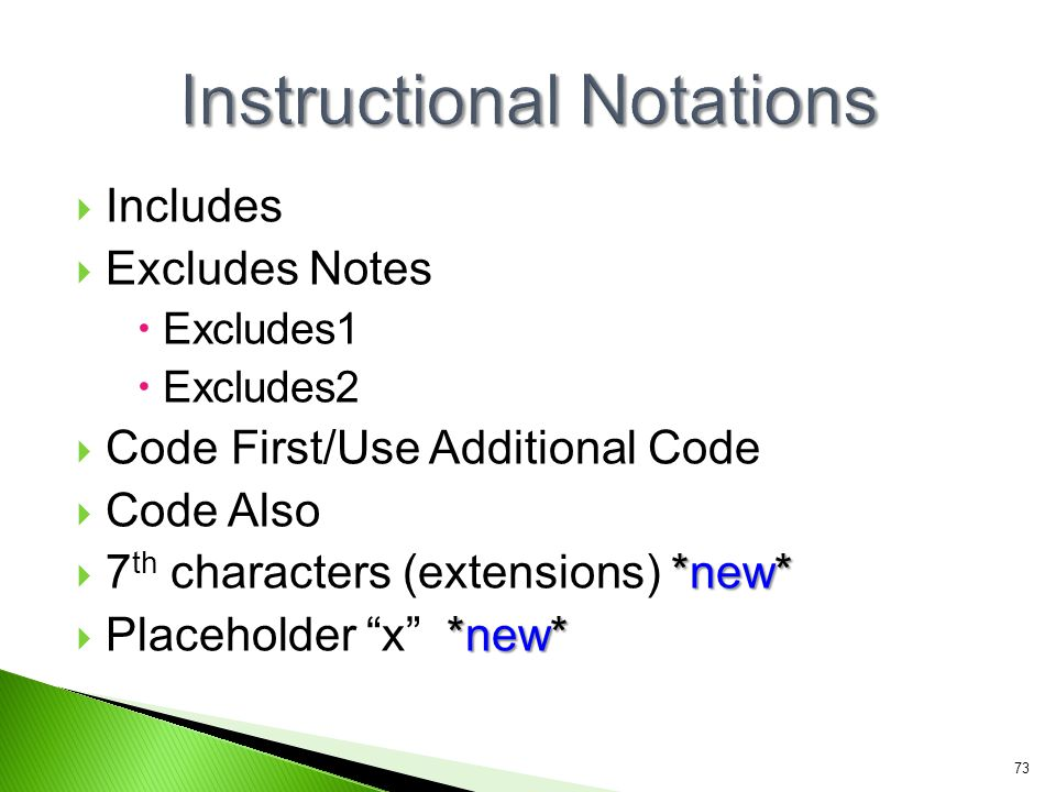 Instructional Notations