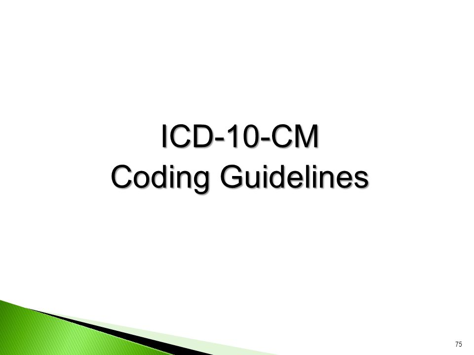 ICD-10-CM Coding Guidelines
