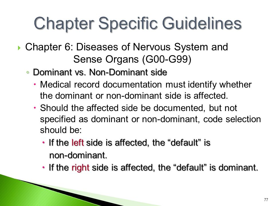 Chapter Specific Guidelines