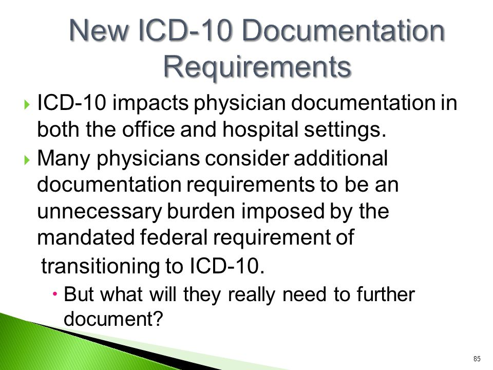 New ICD-10 Documentation Requirements