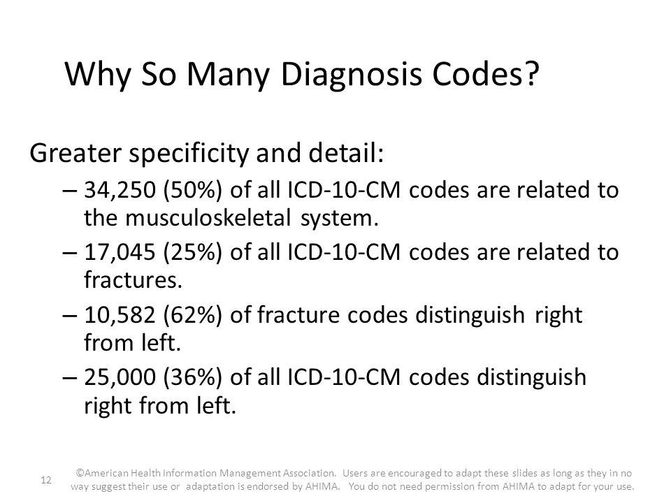 Why So Many Diagnosis Codes