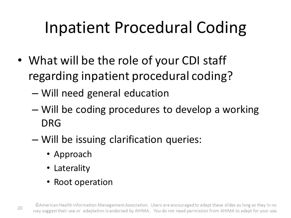 Inpatient Procedural Coding