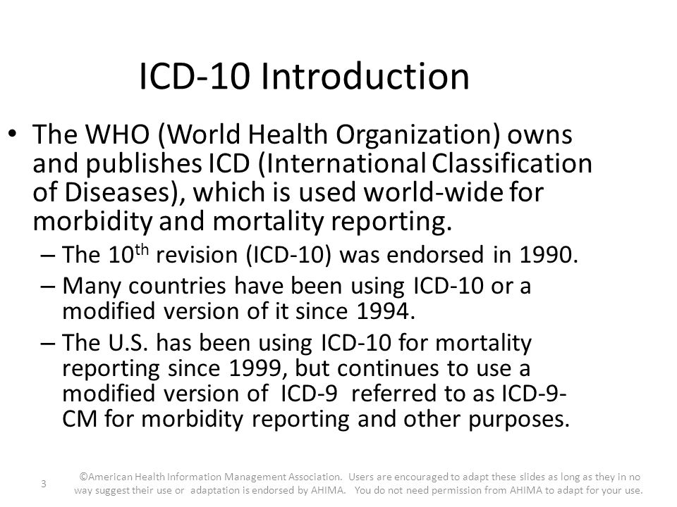 ICD-10 Introduction