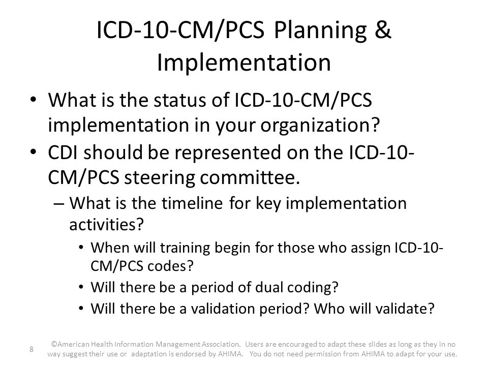 ICD-10-CM/PCS Planning & Implementation