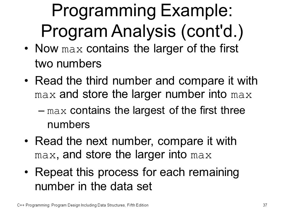 Programming Example: Program Analysis (cont d.)