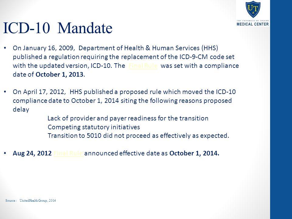 ICD-10 Mandate