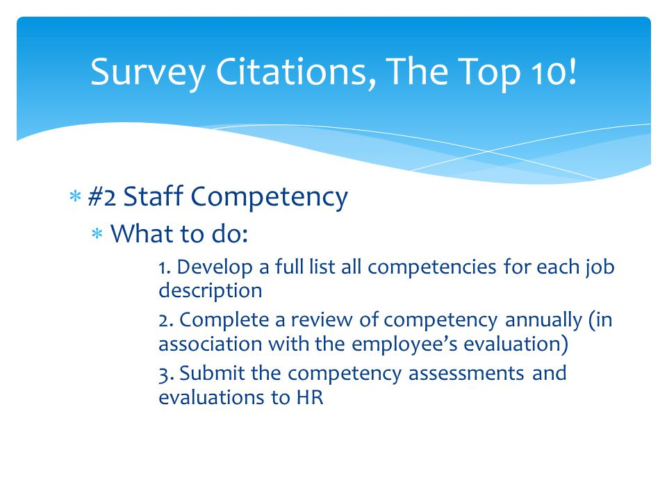 Survey Citations, The Top 10!