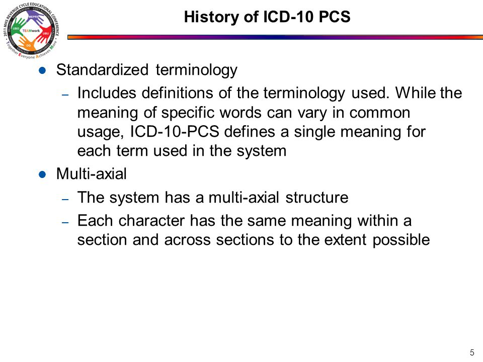 Standardized terminology