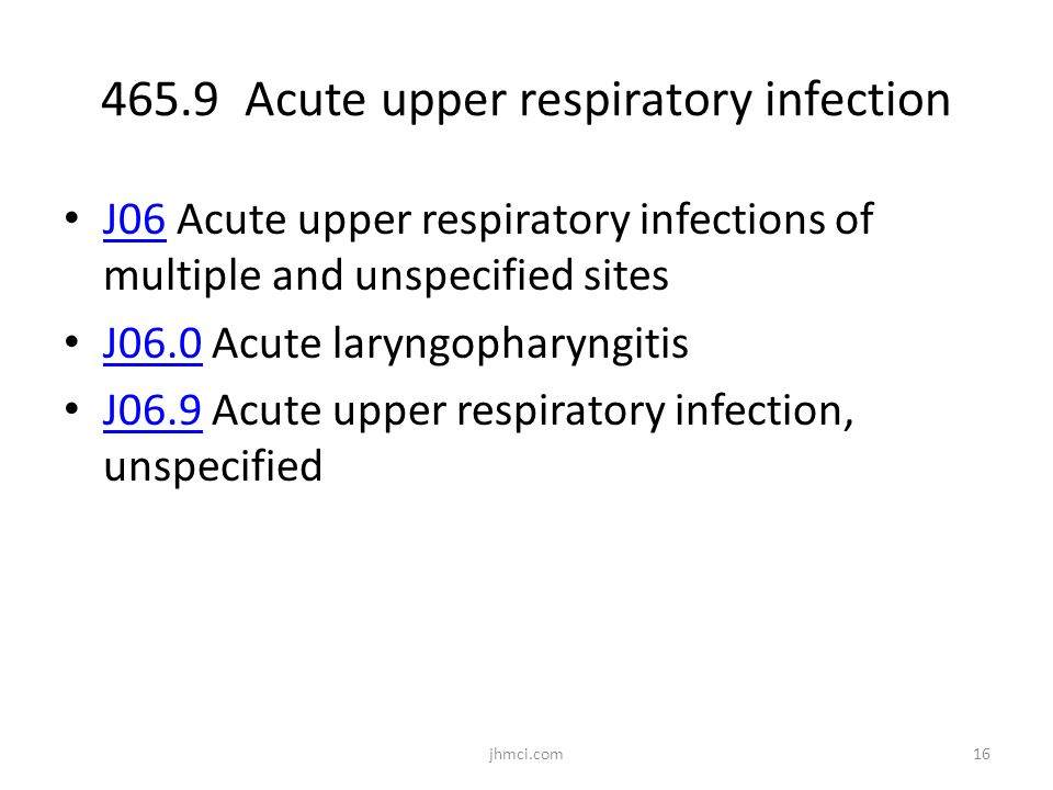 465.9 Acute upper respiratory infection