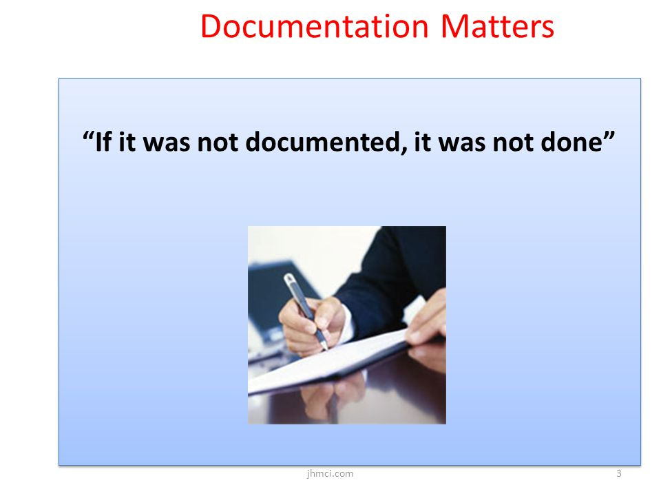 Documentation Matters