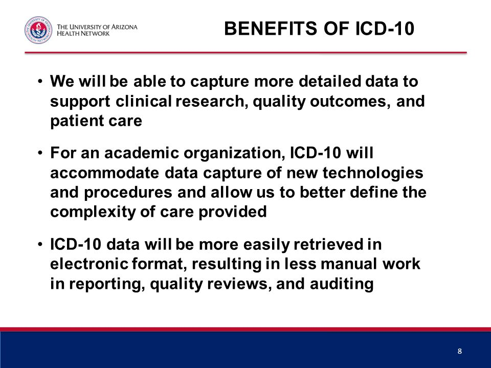 Benefits of ICD-10 (cont'd)