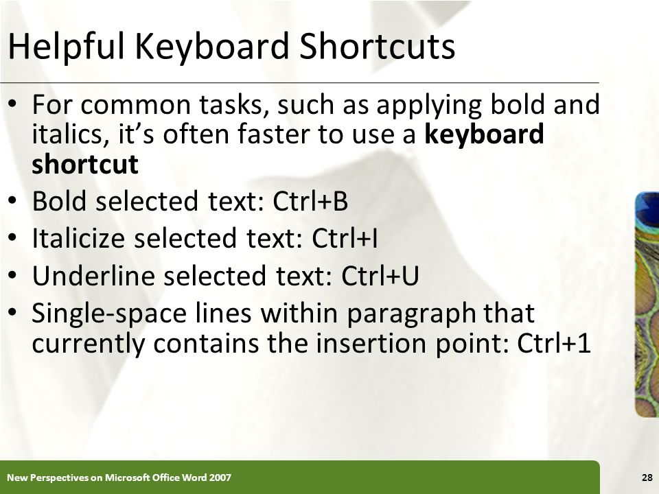 Helpful Keyboard Shortcuts