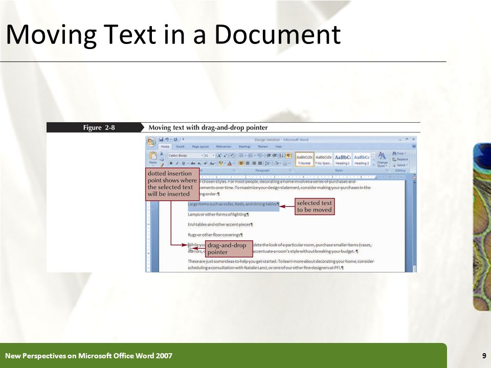 Moving Text in a Document