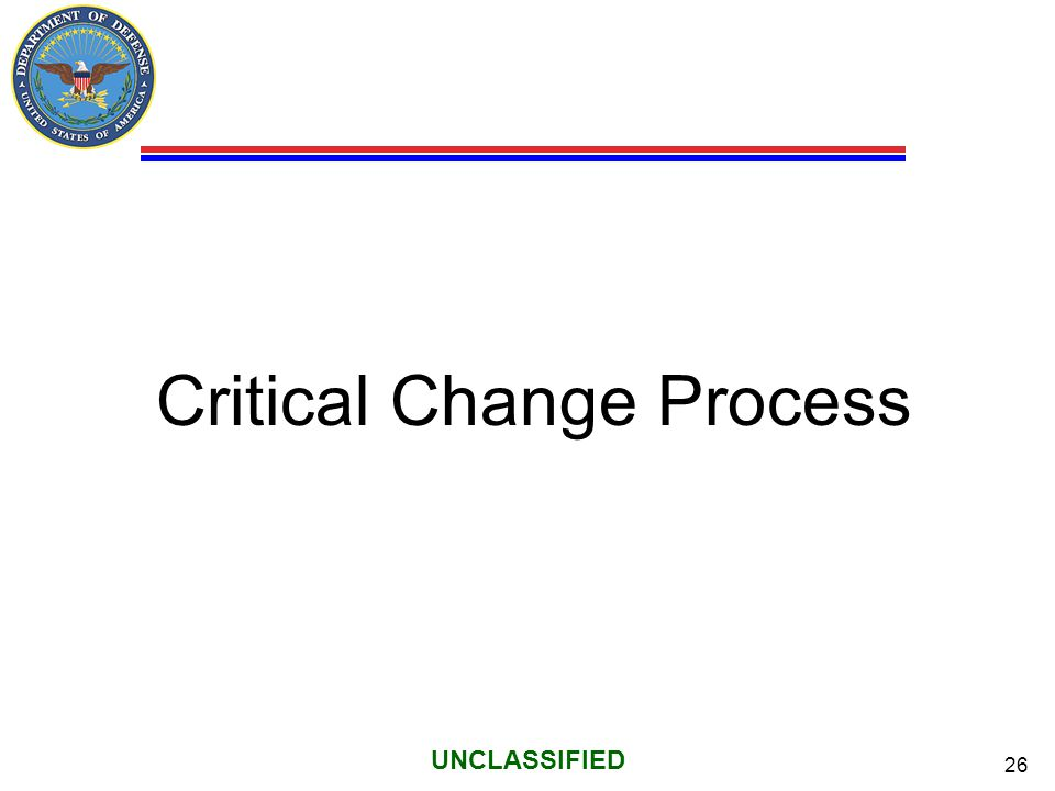 Critical Change Process