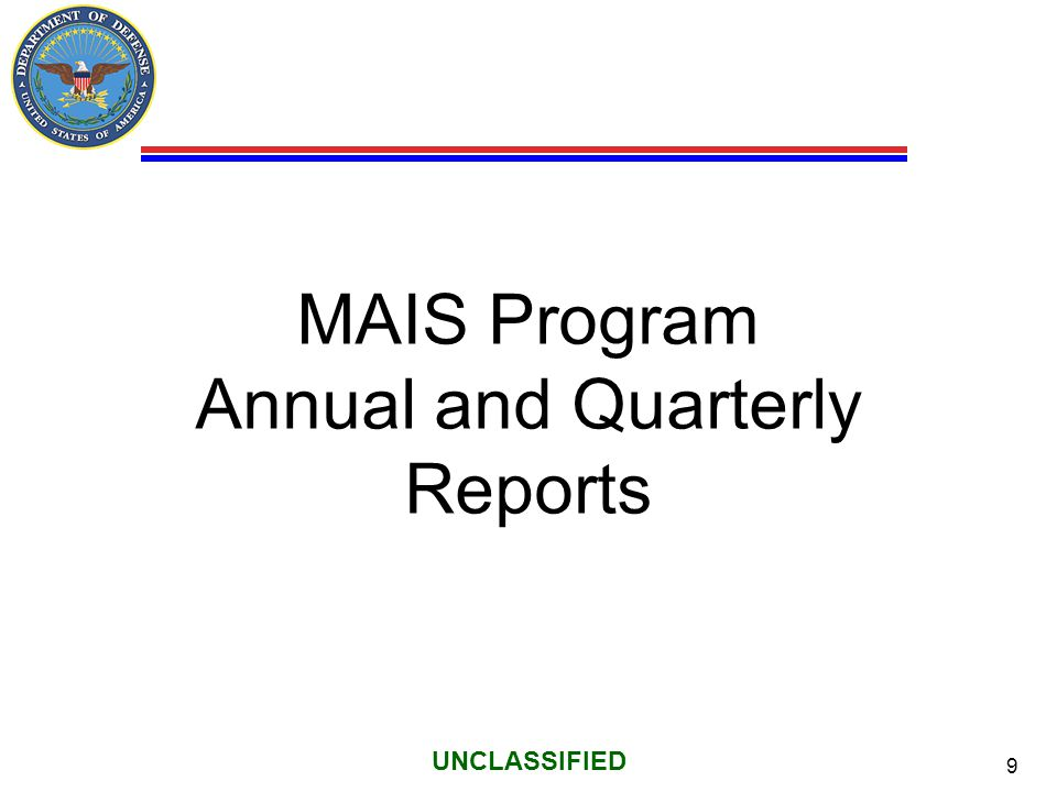 MAIS Program Annual and Quarterly Reports