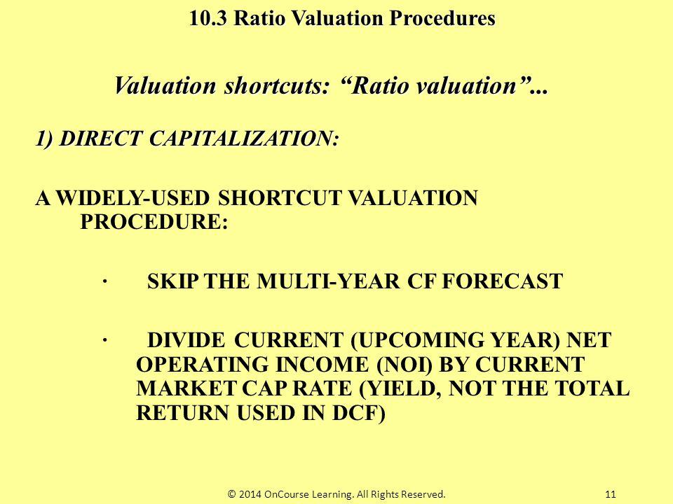 Valuation shortcuts: Ratio valuation ...