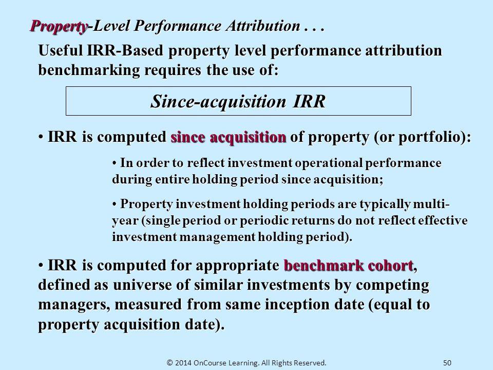 Since-acquisition IRR