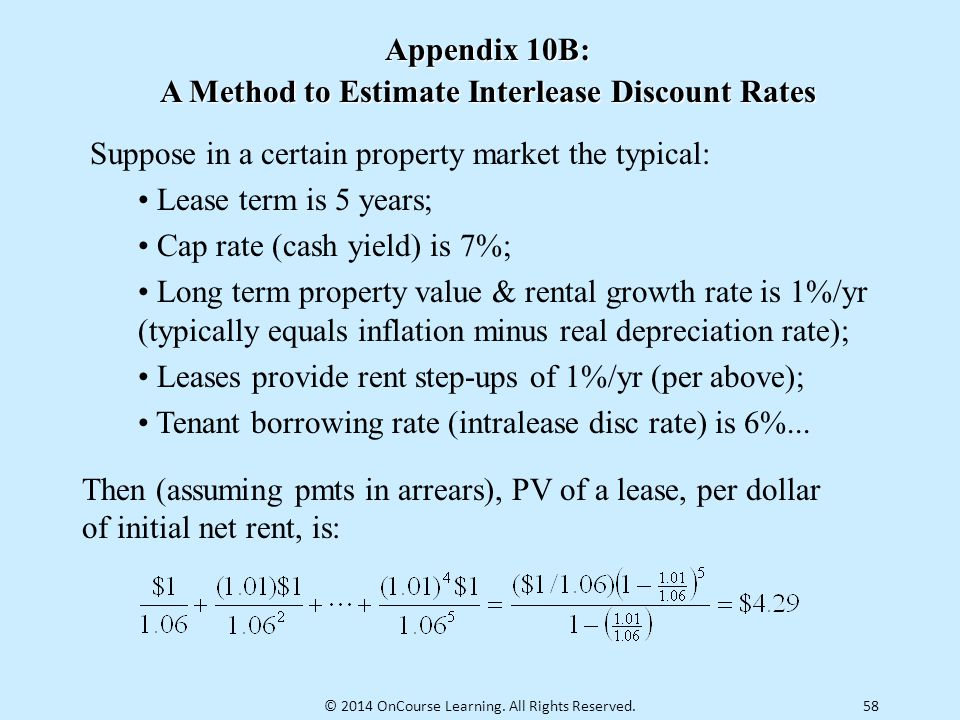 A Method to Estimate Interlease Discount Rates