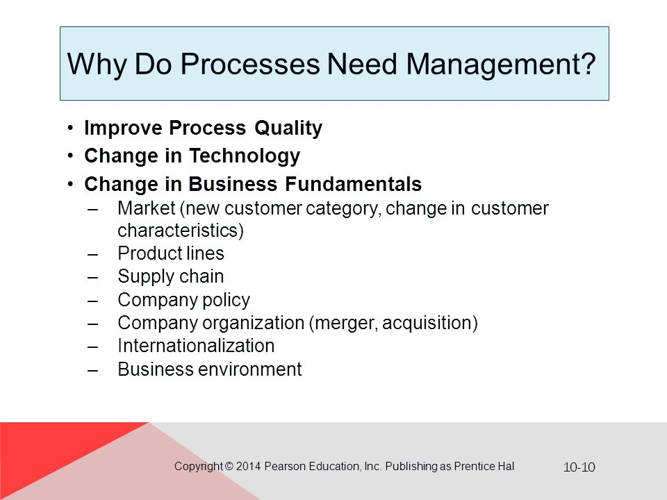 Why Do Processes Need Management