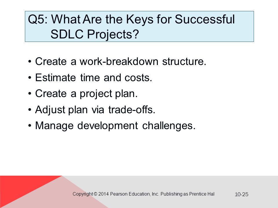 Q5: What Are the Keys for Successful SDLC Projects