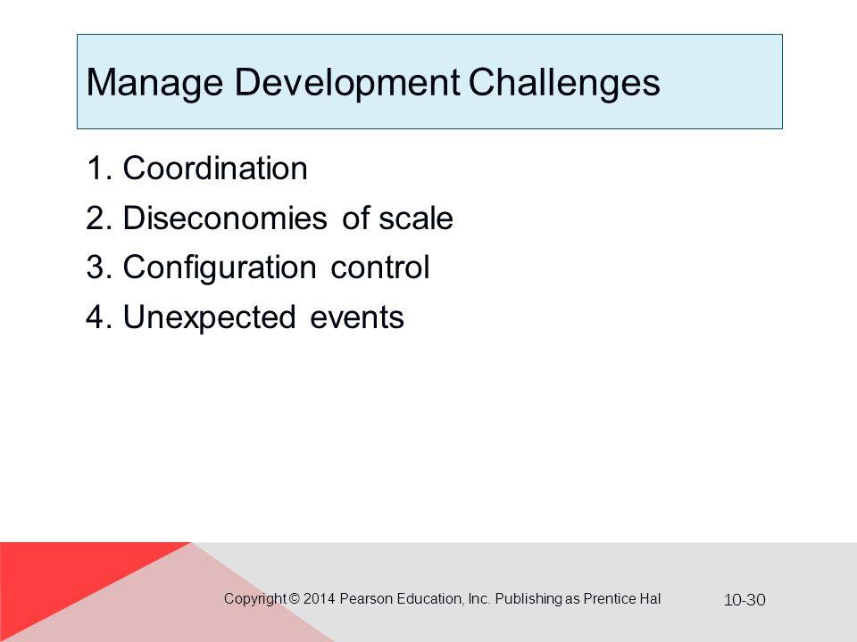 Manage Development Challenges