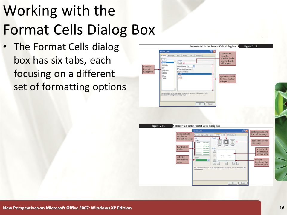 Working with the Format Cells Dialog Box