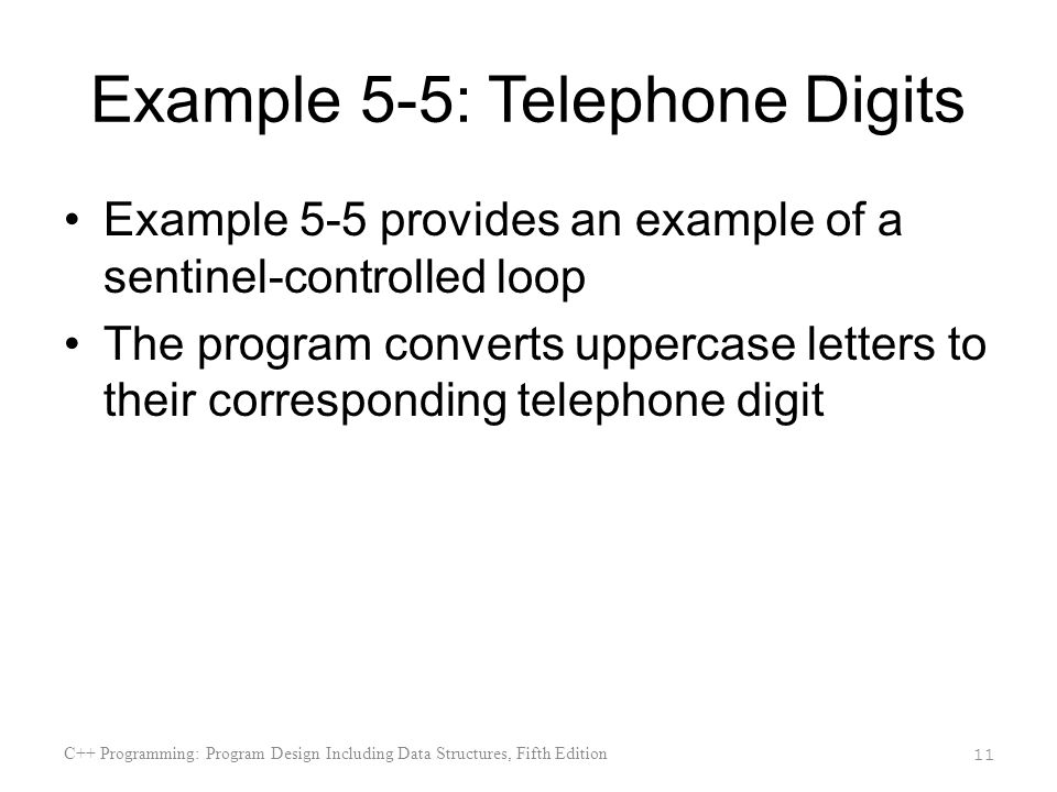 Example 5-5: Telephone Digits