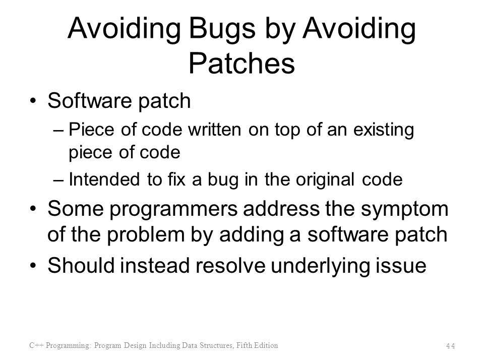 Avoiding Bugs by Avoiding Patches