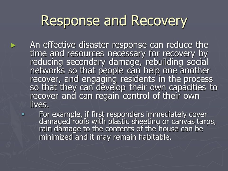 Response and Recovery