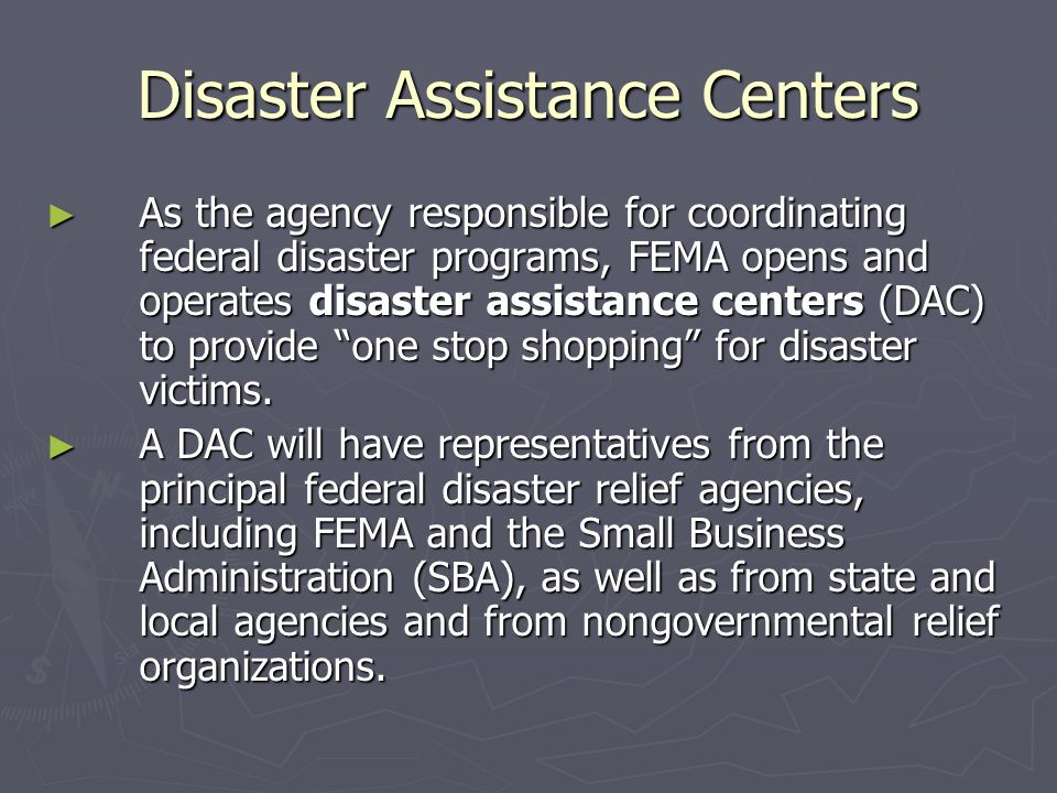 Disaster Assistance Centers