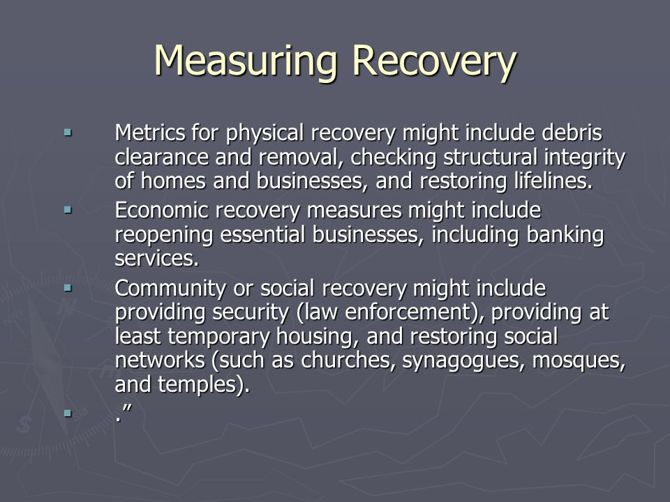 Measuring Recovery