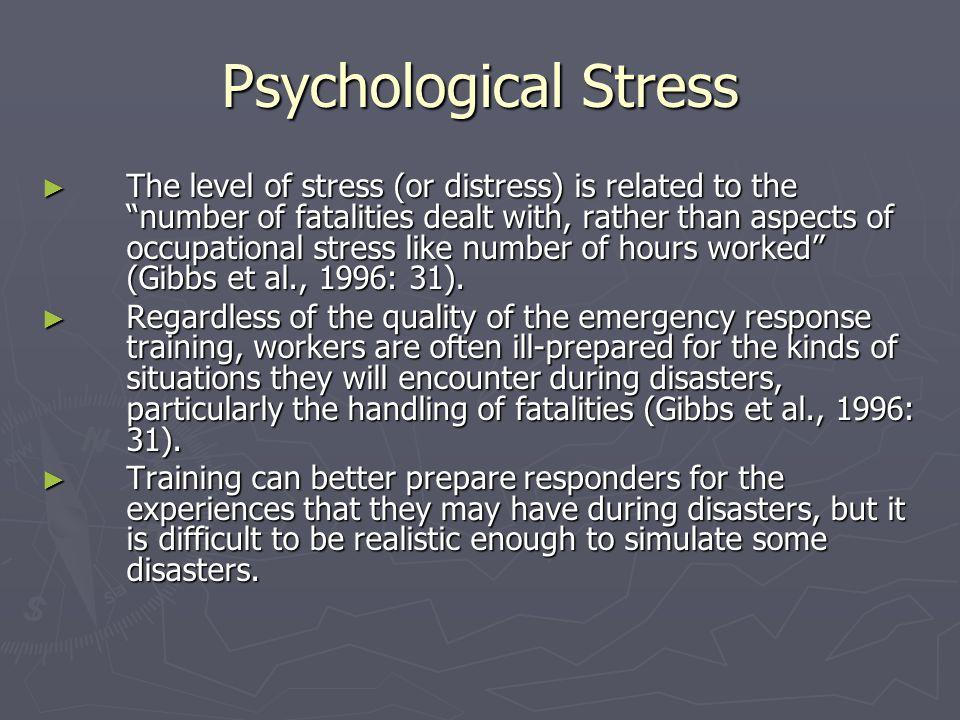 Psychological Stress