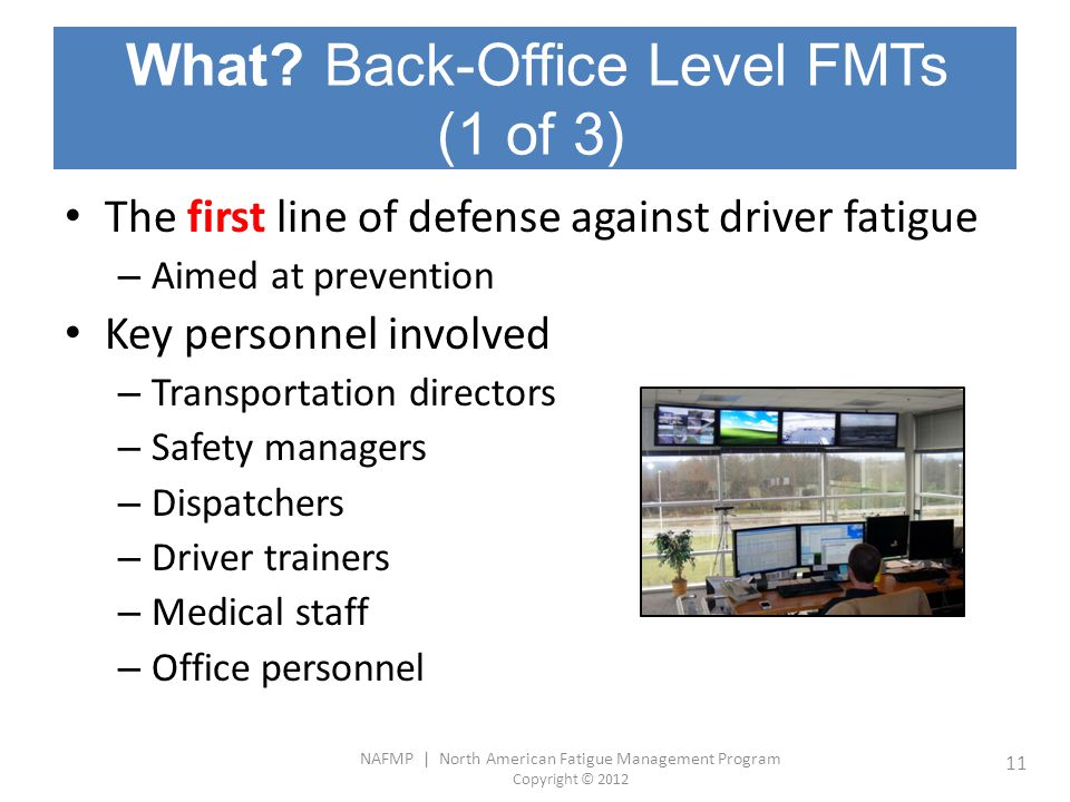 What Back-Office Level FMTs (1 of 3)