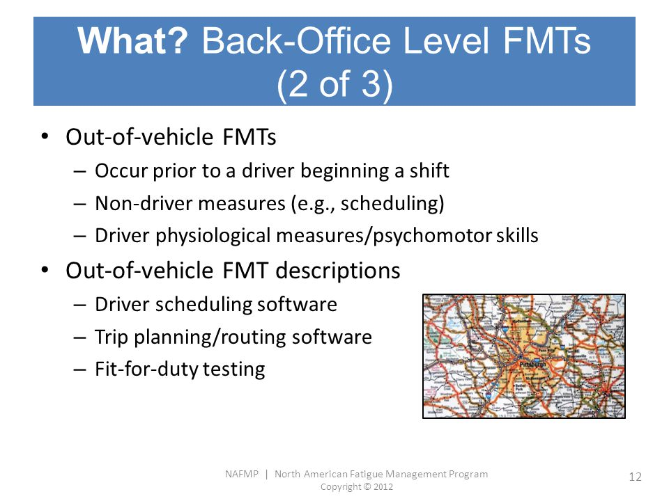 What Back-Office Level FMTs (2 of 3)