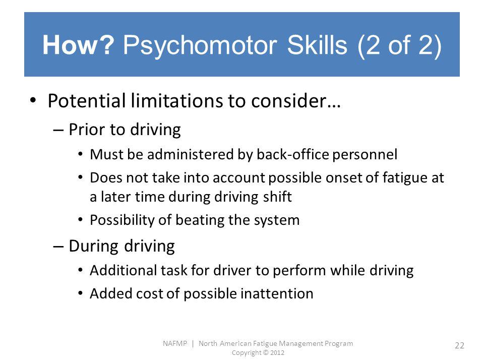How Psychomotor Skills (2 of 2)