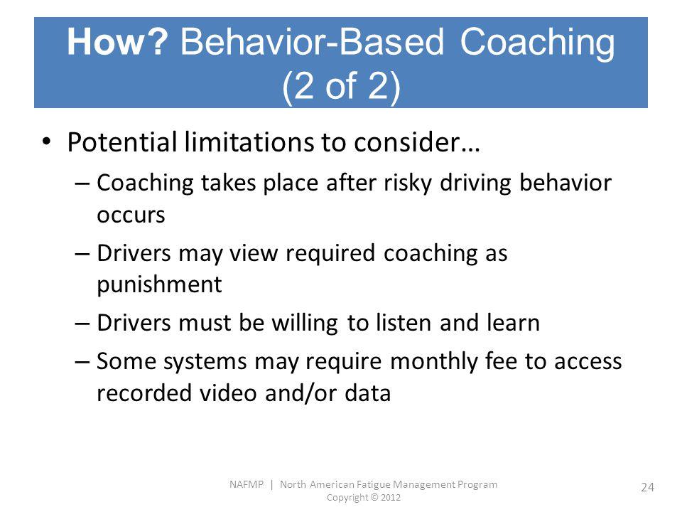 How Behavior-Based Coaching (2 of 2)