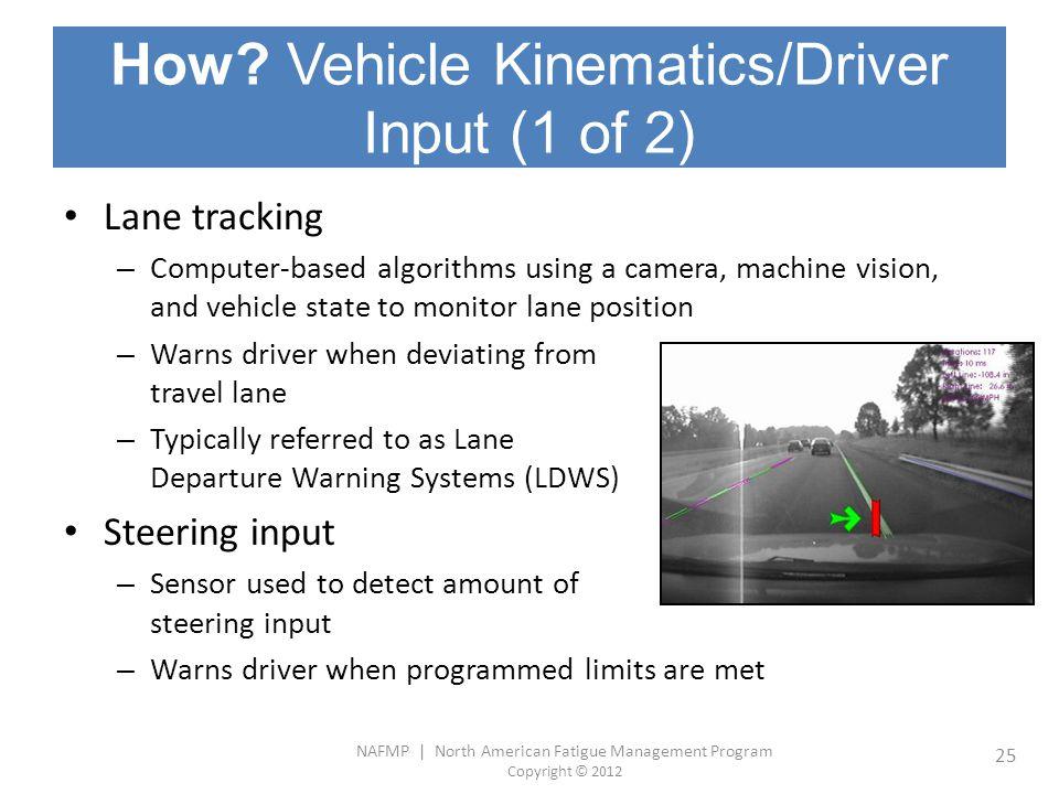 How Vehicle Kinematics/Driver Input (1 of 2)