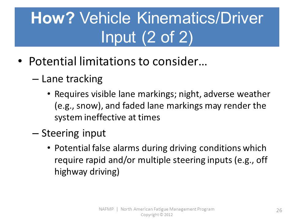 How Vehicle Kinematics/Driver Input (2 of 2)