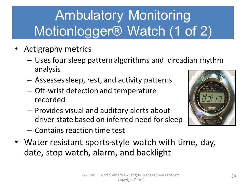 Ambulatory Monitoring Motionlogger® Watch (1 of 2)