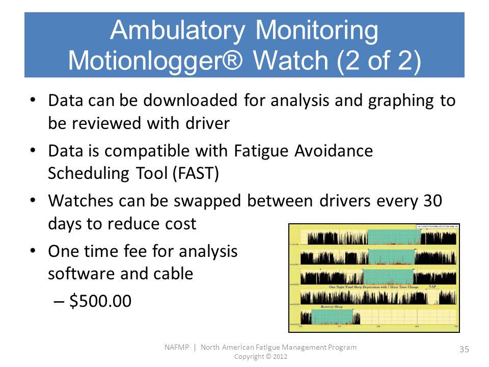 Ambulatory Monitoring Motionlogger® Watch (2 of 2)