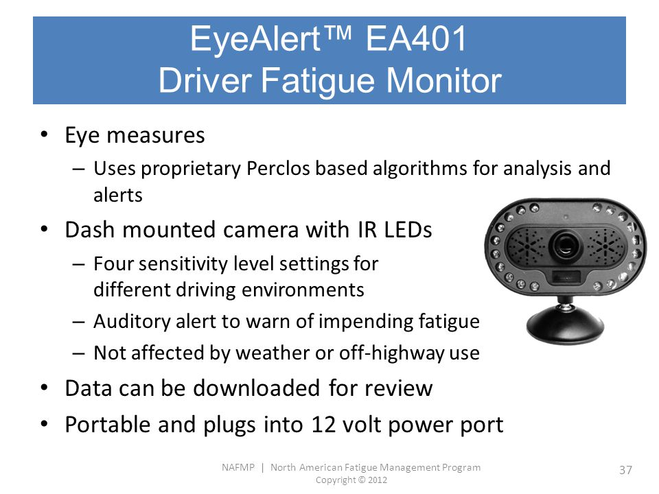 EyeAlert™ EA401 Driver Fatigue Monitor