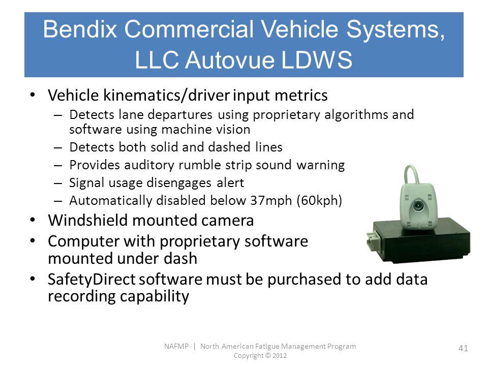 Bendix Commercial Vehicle Systems, LLC Autovue LDWS
