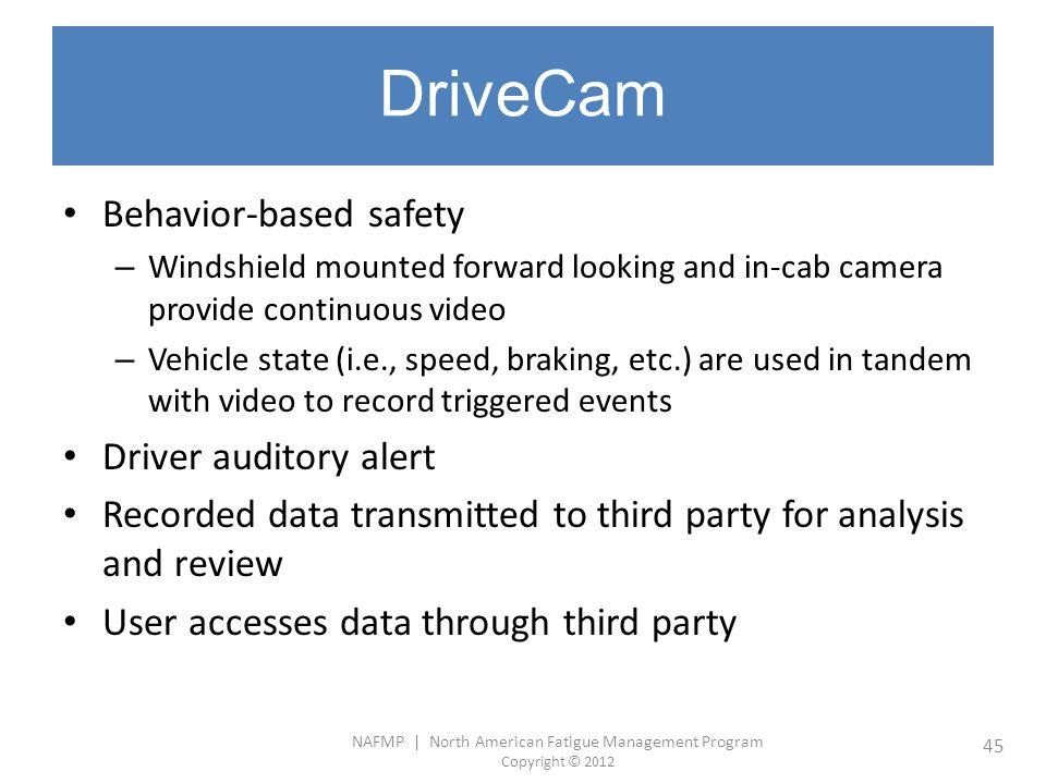 DriveCam Behavior-based safety Driver auditory alert