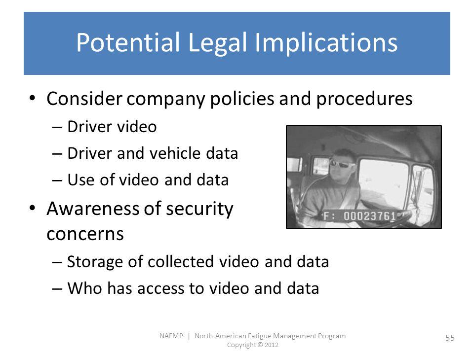 Potential Legal Implications
