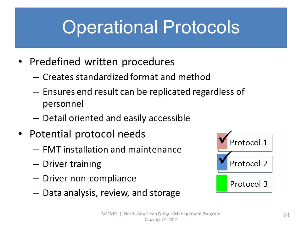 Operational Protocols