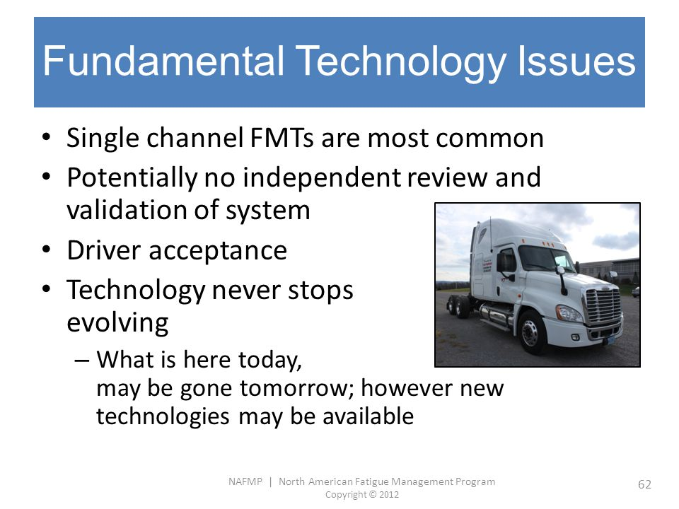 Fundamental Technology Issues